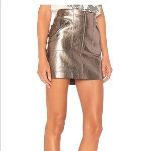 Blank NYC metallic skirt